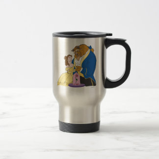 Belle and Beast Holding Hands 15 Oz Stainless Steel Travel Mug