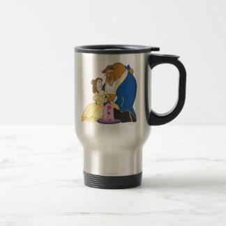Belle and Beast Holding Hands Travel Mug