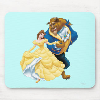 Belle and Beast Mouse Pad
