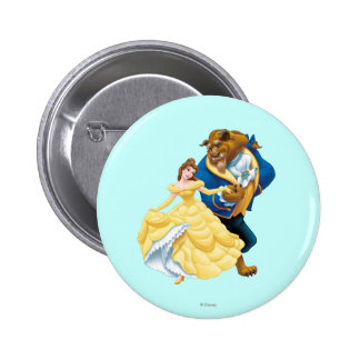 Belle and Beast Pinback Button