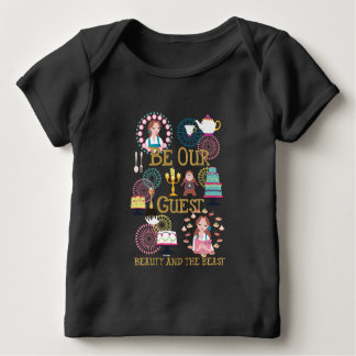 Belle | Be Our Our Guest-Beauty And The Beast Baby T-Shirt