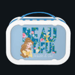 """Belle   Beautfiul Inside &amp; Out Lunch Box<br><div class=""""desc"""">This image features Princess Belle along with the phrase &quot;Beautfiul Inside &amp; Out&quot; decorated with roses</div>"""