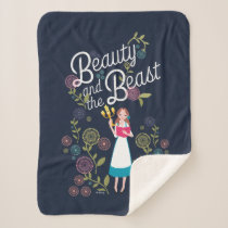 Belle | Beauty And The Beast Sherpa Blanket