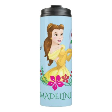 Christmas Themed Belle | Belle And Her Christmas Rose Thermal Tumbler