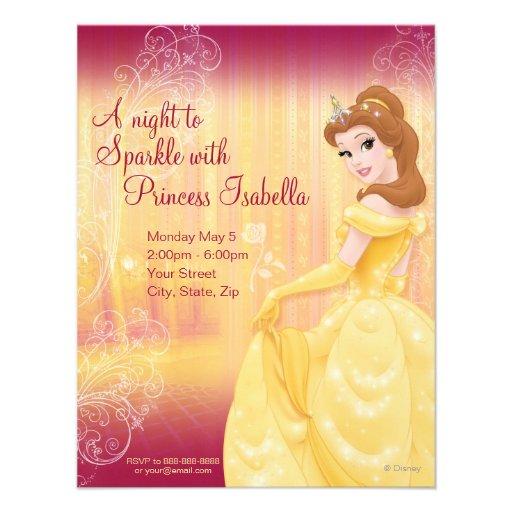 Belle Birthday Invitation