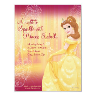 Belle birthday invitations zazzle belle birthday invitation filmwisefo