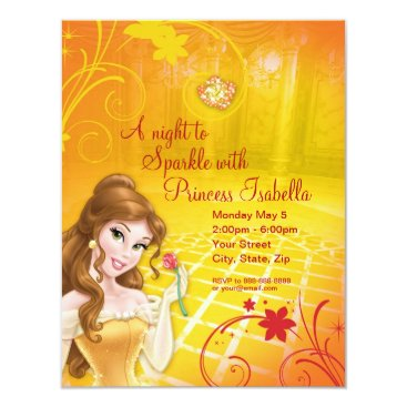 disney Belle Birthday Invitation