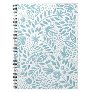 Belle Blue Floral Spiral Notebook