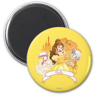 Belle - Caring and Enchanting 2 Inch Round Magnet