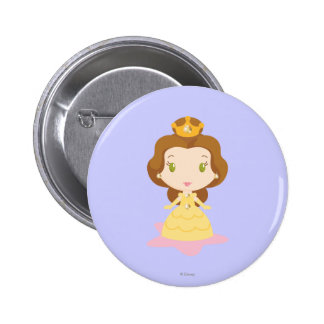 Belle Cartoon Button