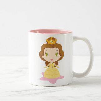 Belle Cartoon Two-Tone Coffee Mug