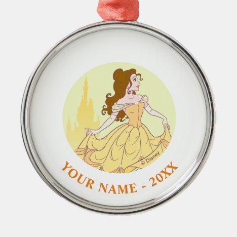 Belle & Castle Graphic Metal Ornament
