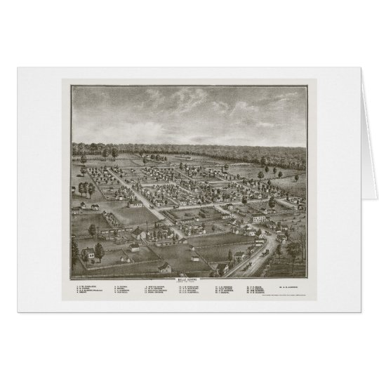 Belle Centre, OH Panoramic Map - 1874 Card