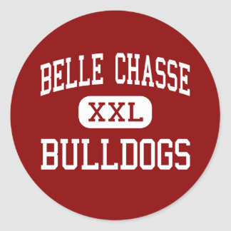 Belle Chasse - Bulldogs - Middle - Belle Chasse Round Stickers
