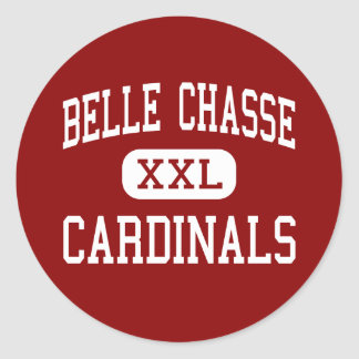 Belle Chasse - Cardinals - High - Belle Chasse Round Sticker