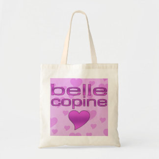 Belle Copine Pink & Purple Love Hearts Budget Tote Bag
