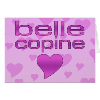 Belle Copine Pink & Purple Love Hearts Card