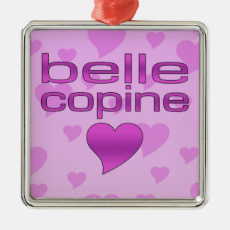 Belle Copine Pink & Purple Love Hearts Christmas Tree Ornament