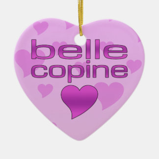 Belle Copine Pink & Purple Love Hearts Christmas Ornaments