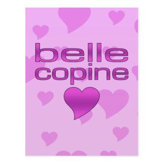 Belle Copine Pink & Purple Love Hearts Postcard