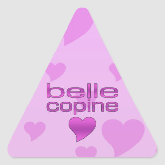 Belle Copine Pink & Purple Love Hearts Triangle Sticker