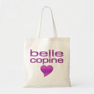 Belle Copine Purple Love Heart Budget Tote Bag