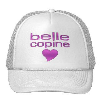 Belle Copine Purple Love Heart Trucker Hat