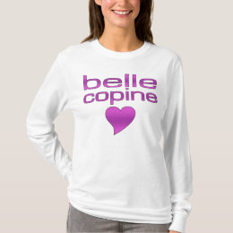 Belle Copine Purple Love Heart T-Shirt