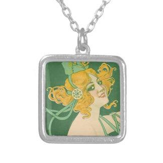 Belle époque ads silver plated necklace