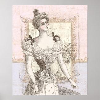 Belle Epoque Beauty Lacy Lingerie Dressing Room Poster