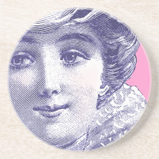 Belle Epoque Beauty Vintage Fashion Plate Coasters