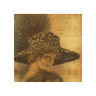 Belle époque, gold and black, victorian lady, dama wood wall decor