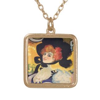 Belle époque gold plated necklace