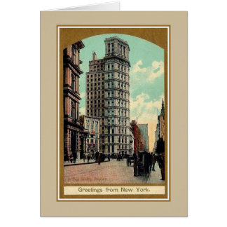 Belle époque greetings from Broadway New York Card