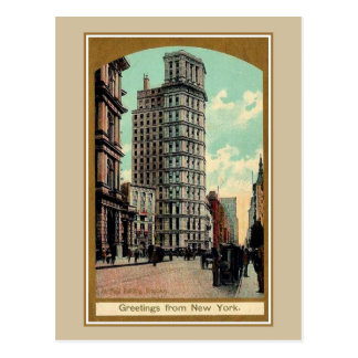 Belle époque greetings from Broadway New York Postcard