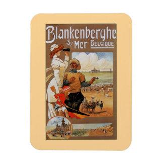 Belle epoque summer beach travel Blankenberge Magnet