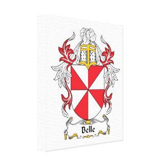 Belle Family Crest Canvas Print