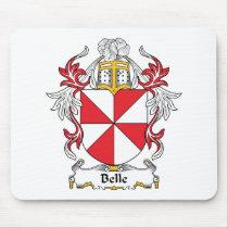 Belle Family Crest Mousepad
