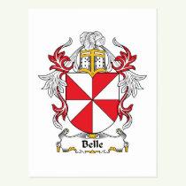 Belle Family Crest Postcard