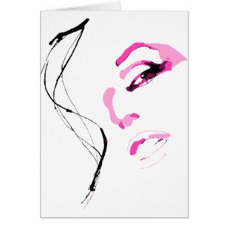 Belle Fille Visage Face Card