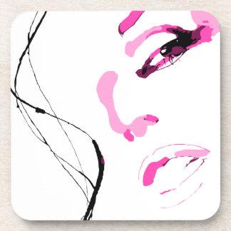 Belle Fille Visage Face Coaster