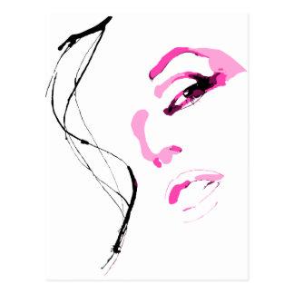 Belle Fille Visage Face Postcard