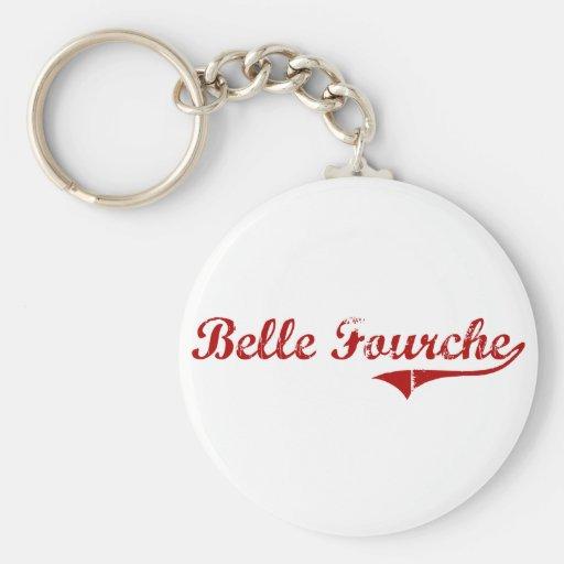 Belle Fourche South Dakota Classic Design Key Chain