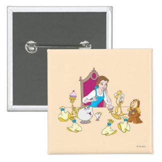 Belle & Friends Pinback Button