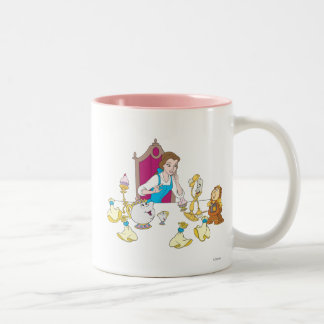 Belle & Friends Two-Tone Coffee Mug