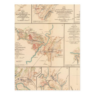 Belle Grove battle Postcard