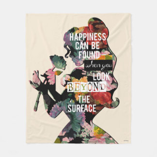 Belle - Happiness Can Be Found Fleece Blanket