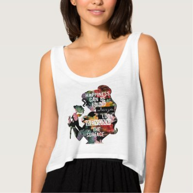 Belle - Happiness Can Be Found Flowy Crop Tank Top