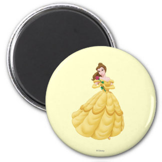 Belle Holding Rose 2 Inch Round Magnet