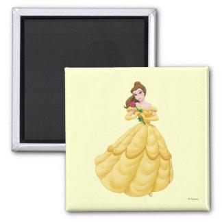 Belle Holding Rose 2 Inch Square Magnet